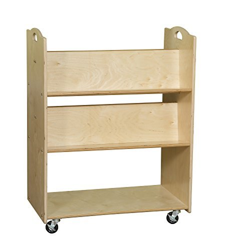 Contender C990648 Mobile Library Cart, Ready to Assemble