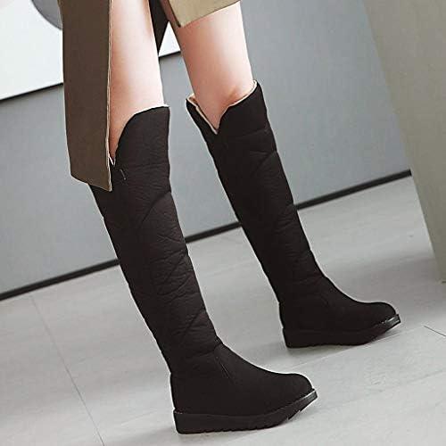 [Mifazhu] 秋冬 長靴 可愛いレディースカシミアフラットシューズラウンドヘッドローヒール暖かい長い雪のブーツを維持するには 柔らかい 美脚効果最高 ファッション 脚長 足細 コンフォート通学 旅行 22.5CM-26.5CM