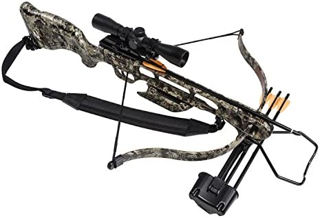 SA Sports 647 Empire Fever Pro 175LB Crossbow Package – 240 FPS Scope, Quiver, Arrows, Sling, Rope Cocking Device