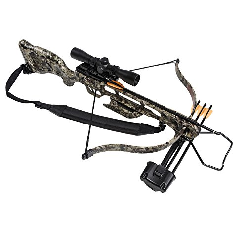 SA Sports 647 Empire Fever Pro 175LB Crossbow Package - 240 FPS Scope, Quiver, Arrows, Sling, Rope Cocking Device