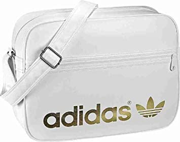 11b5ae1dac61 Image Unavailable. Image not available for. Colour  Adidas Airliner White  Gold Bag