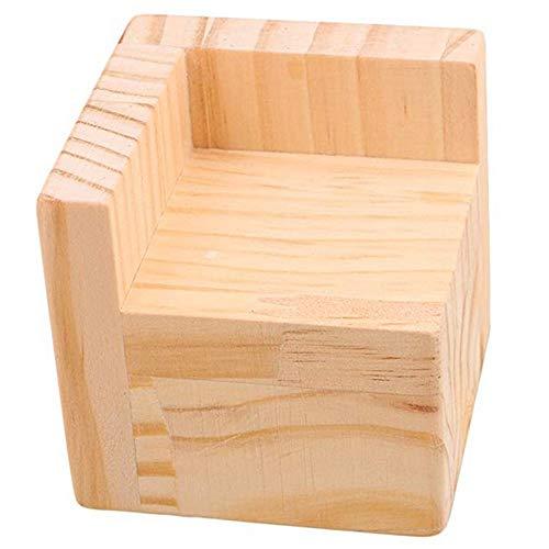 L-Shaped Semi-Closed Lift Feet Wood Bed Desk Riser Lifter Table Furniture Soft Feet Lifts Storage (7x7x8cm)