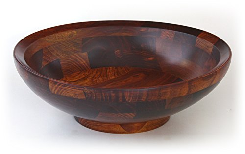 Mountain Woods Bevelled Rim Wood Bowl with Cherry Finish