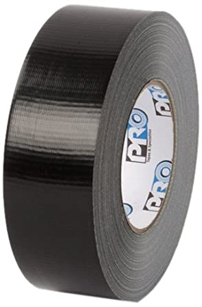 """Pratt Plus 001120260MBLA Polyethylene Cloth Industrial Standard Duct Tape, 200 Degrees F Performance Temperature, 27 lbs/inch Tensile Strength, 60 yds Length x 2"""" Width, Black (Pack of 3)"""