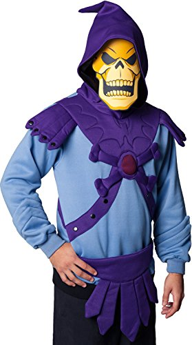 Skeletor Costume Hoodie for Adults - Sizes S to 5XL