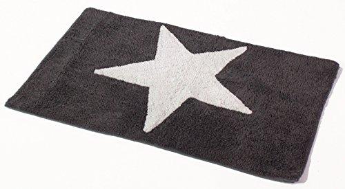 Badematte 'Stars' (50 x 80 cm) grau