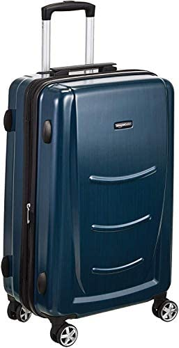 Amazon Basics Hard Shell Carry On Spinner Suitcase Luggage - 22 Inch, Navy Blue