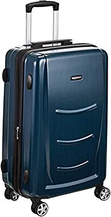 AmazonBasics Hardshell Trolley Luggage - 20-Inch, Navy Blue