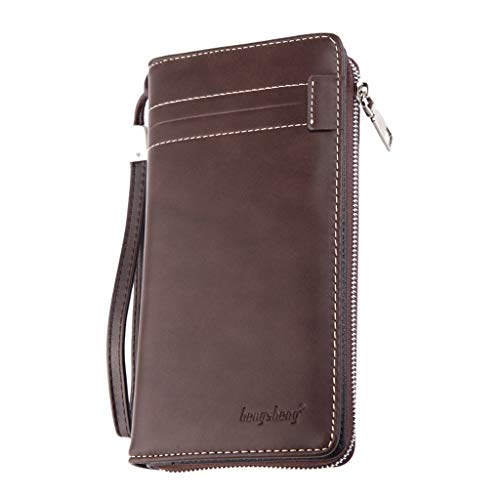 Small Leather Wallet, Blocking Credit Card Holder Mini Pocket Purse]()