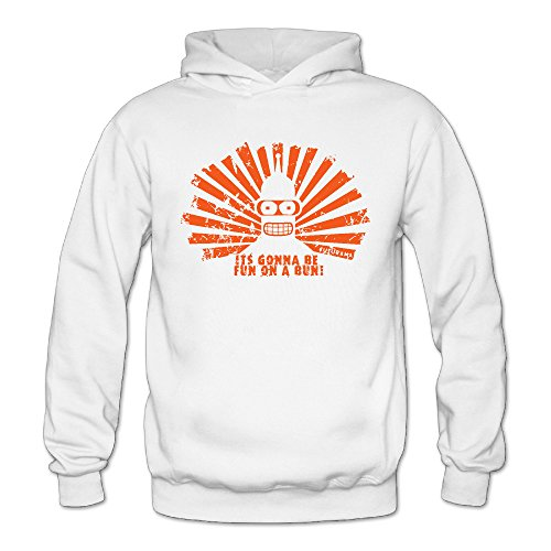 Funny Futurama Quotes Memes Classic Women's Hooded Hoodies White S