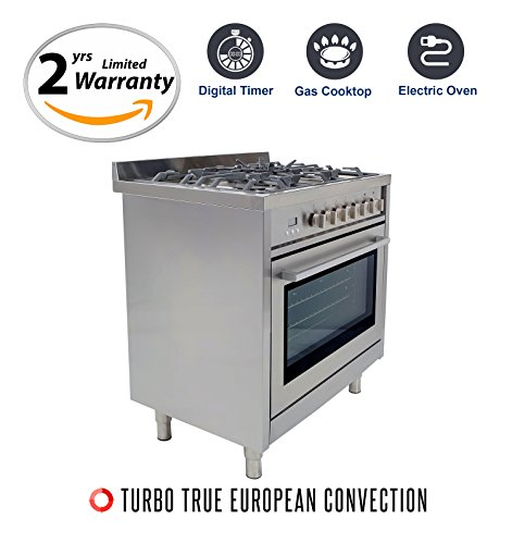 36 gas range with electric oven - 5