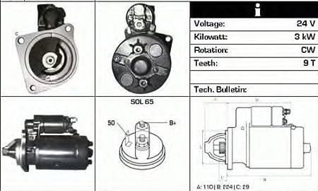 Motor de arranque Bosch 24V 0001363111–4744841
