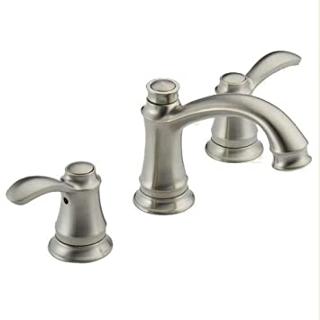 Delta 35710LF SS Nura Two Handle Widespread Bathroom Faucet, Stainless