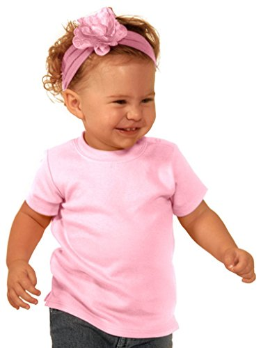Kavio! Unisex Infants Snap Shoulder Short Sleeve Top Baby Pink - Clothing Jersey Outlets New