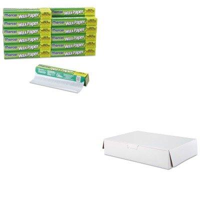 KITMRD5016SCH1029 - Value Kit - Cake Box .50 Sheet 19x14x4 50 (SCH1029) and Packaging Dynamics Kitchen Charm Wax Paper Roll (MRD5016)
