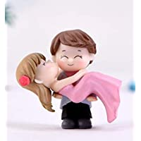 Chocozone Couple Hug Resin Showpiece Couple Miniatures Romantic Gifts for Girlfriend (Hug Couple)