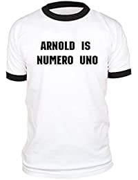 Arnold is Numero UNO - Weightlifting Champ - Cotton Ringer TEE