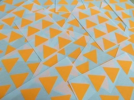 32 Couleurs Disponible Bleu Moyen 1 Paquets de 96 Large Color/é Triangulaire Collant /Étiquettes 25mm Forme Triangle Code Couleur Autocollants