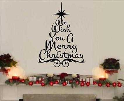 Christmas Vinyl Decals.Amazon Com Diuangfoong We Wish You A Merry Christmas Vinyl