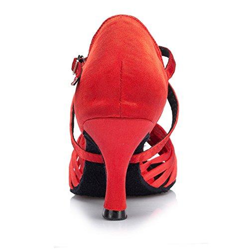 Miyoopark ,  Damen Tanzschuhe , rot - Red-7.5cm heel - Größe: 35
