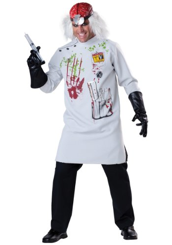 InCharacter Costumes Men's Mad Scientist Costume, White/Red/Black, Large (Mad Scientist Costumes)