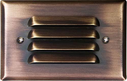 Dabmar Lighting LV617-ABZ Brass Recessed Louvered Brick/Step/Wall Light, Antique Bronze
