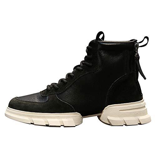 Rismart Baskets Tennis Mode Semelle forme Chaussures Plate Divisé Noir Femmes Désinvolte rFwqOCr