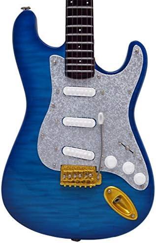 [해외]미니츄어 악기 기타 60s ST Quilt top aqua blue / Miniature Instrument Guitar 60s ST Quilt top aqua blue