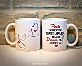 Buy Coffee Maker Online Long Distance Mug - BFF Coffee Mug - Custom State Coffee Mug - Best Friends Mug - Personalized with Your Custom Quote, All States, Countries Available - 11 oz or 15 oz ONE MUG