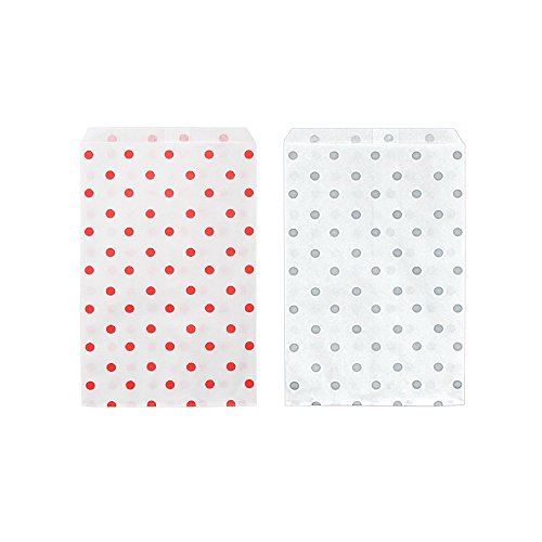 - 50 Bags Flat Plain Paper or Patterned Bags for candy, cookies, merchandise, pens, Party favors, Gift bags (8.5