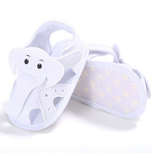 Pueri Sandalias Niños Zapatos Bebés Sandalias Verano Zapatos Primer Paso Blanco