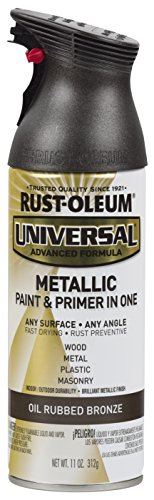 Rust-Oleum Universal All Surface 249131-6 PK Spray Paint, 11 oz, Metallic, 6 Pack, Oil Rubbed Bronze (Best Paint Brush For Primer)