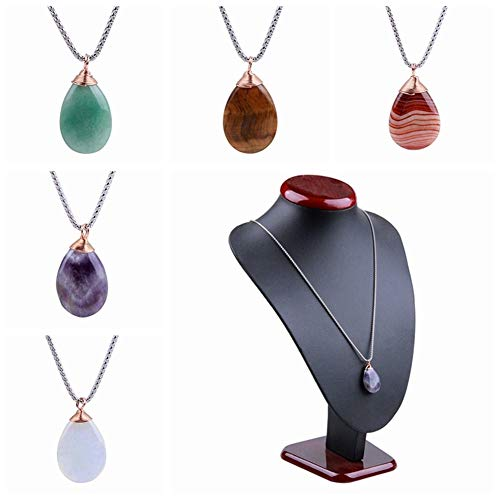 Statues & Sculptures - Amethyst Aventurine Tiger Eye Quartz Stone Tumbled Carved Oval Shaped Pendant Diy Necklace Reiki - Statues Sculptures Statues Sculptures Crystal Tiger Pendant Feng S