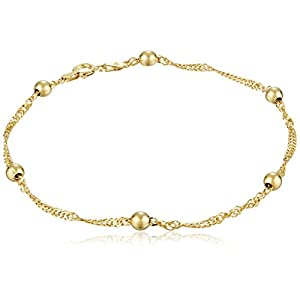 Sterling Silver Singapore Chain Anklet