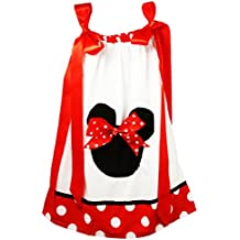 Wholesale Princess Red, Black and White Minnie Pillow Case Dress