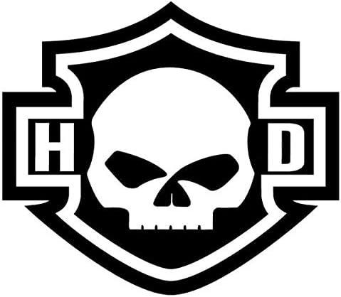 Aufkleber Für Helm Retrostil Harley Davidson Totenkopf Auto