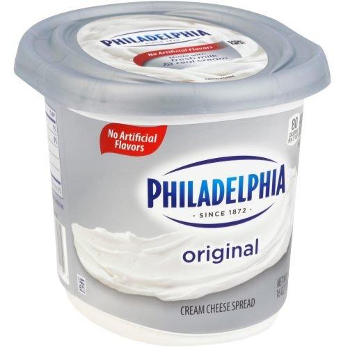 Philadelphia Original Full Fat Cream Cheese Spread, 1 Pound -- 6 per case. 1 Lb Cream Cheese