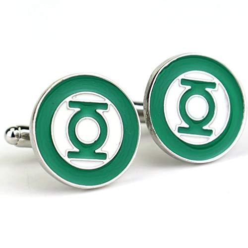 (Green Lantern DC Cufflink Set with a Box   Silver Cufflinks for Men, Birthday Presents, Comics Merchandise Collectibles, Superhero Movies (Green Lantern))