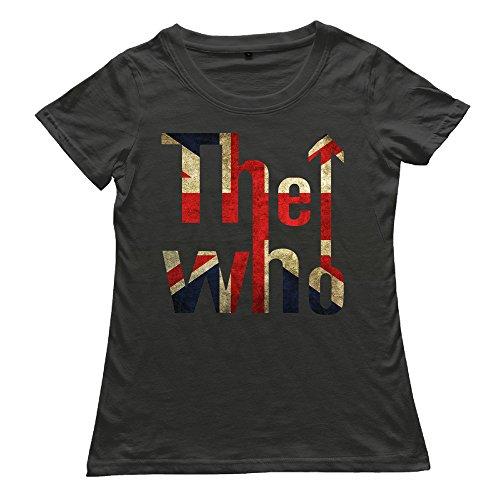 VOLTE THE WHO English Rock Band Flag Women's Vintage Tees XXL Black