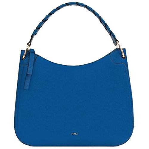 FURLA - Bolso al hombro de Piel para mujer Blu Pavone Medium
