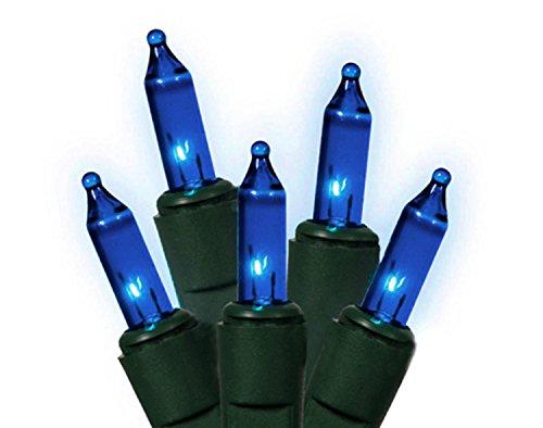Blue Everglow Christmas Lights Green