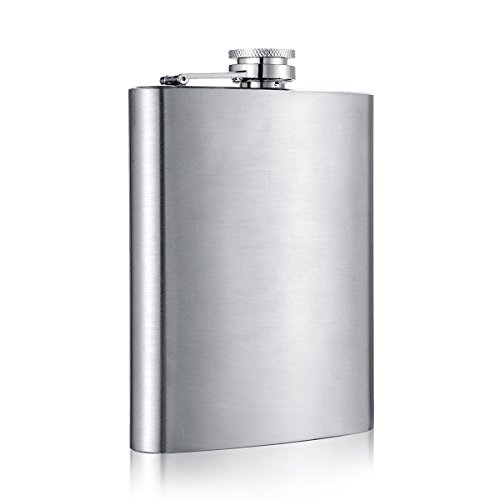 Shenglin Classic Style Stainless Steel Liquor Whiskey Hip Flask Silver 6 oz