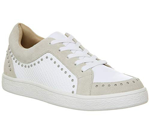 Studded And Favourable Office Lace White Trainers Grey Up a5qxwS