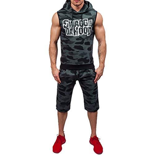 (POQOQ Mens Vest,Mens Tank top,red Tank top,Sleeveless Workout Shirts for Men,Sleeveless Shirt,Mens Sleeveless t Shirts,Vest Shirt,Safety Vest,Sleeveless t-Shirt L Gray)