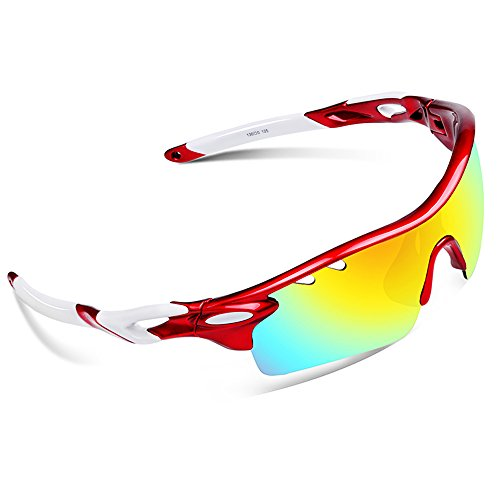 Ewin E01 Polarized Sports Sunglasses with 3 Interchangeable Lenses for Men Women Golf Baseball Volleyball Fishing Cycling Driving Running - Surfer Sunglasses