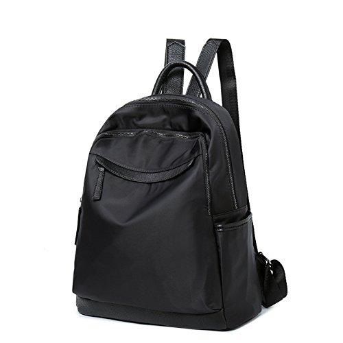 XKS Femme Tissu Mode Casual Nylon Oxford Black Sac À D'étudiant Sac Sac À Dos Dos ZSFnTfHqZ