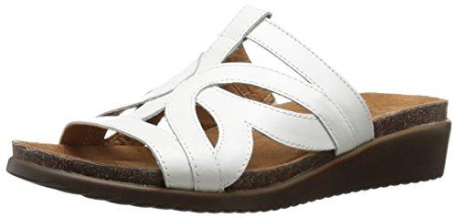 Naturalizer Fryna de la mujer sandalias de cuña Blanco