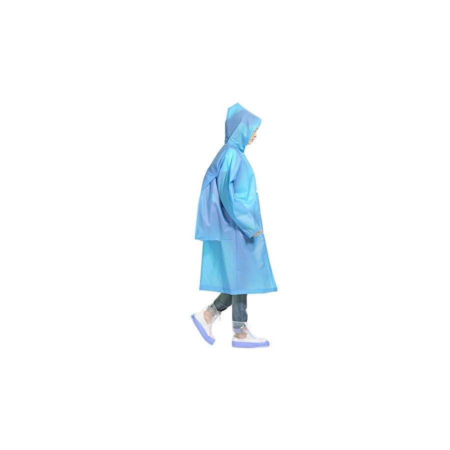 Unisex Rain Poncho Hooded Raincoat Reusable Rainwear With a Carry Bag