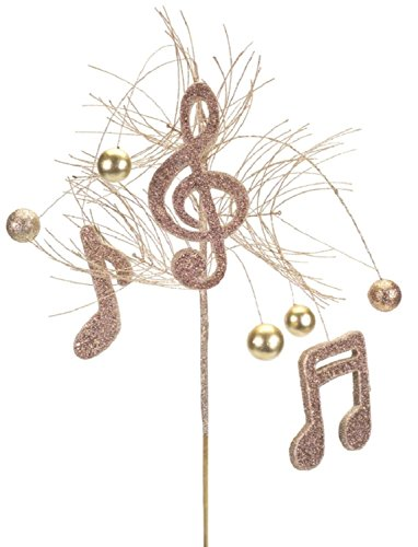 Club Pack of 12 Brown and Gold Decorative Artificial Musical Note Sprays 31'' by Melrose