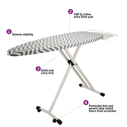 bartnelli 1107 xl ironing board  100 cotton cover